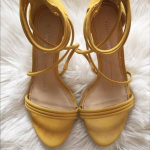 Yellow Gianni Bini Strappy Heels - 6.5